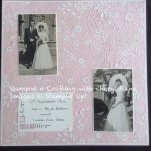 Wedding Scrapbook page