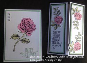 Rose cards x2