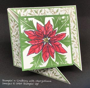 Card using Poinsettia Place DSP, Blend pens and Poinsettia stamp set
