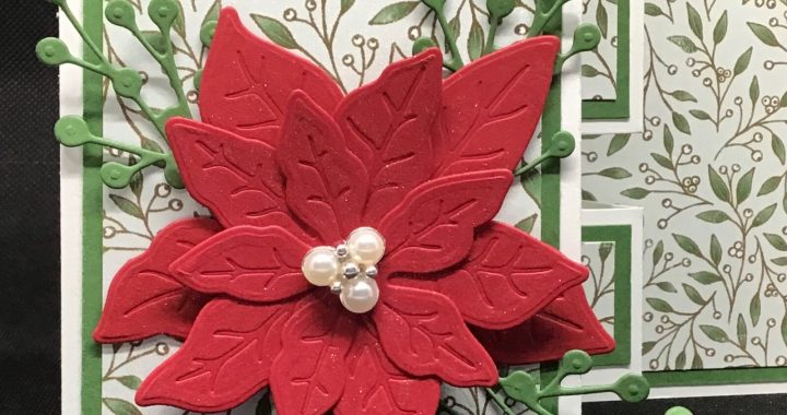 Poinsettia made using Poinsettia Dies