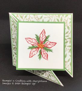 Card using Poinsettia Place DSP and Poinsettia Suite