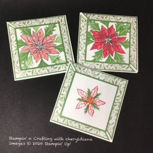 Christmas Cards using Poinsettia Place Suite