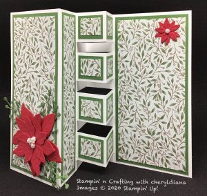 Building Block card using Poinsettia Place Suite, Poinsettia Dies and Poinsettia Place Designer Series Paper