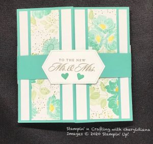 Double Accordion Card using Forever Fern, Floral Essence and Last a Lifetime Stamp Sets.