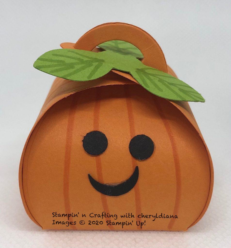 Pumpkin Mini Curvy Keepsake Box