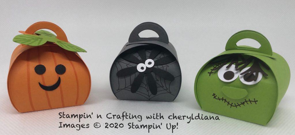 Halloween Mini Curvy Keepsake boxes