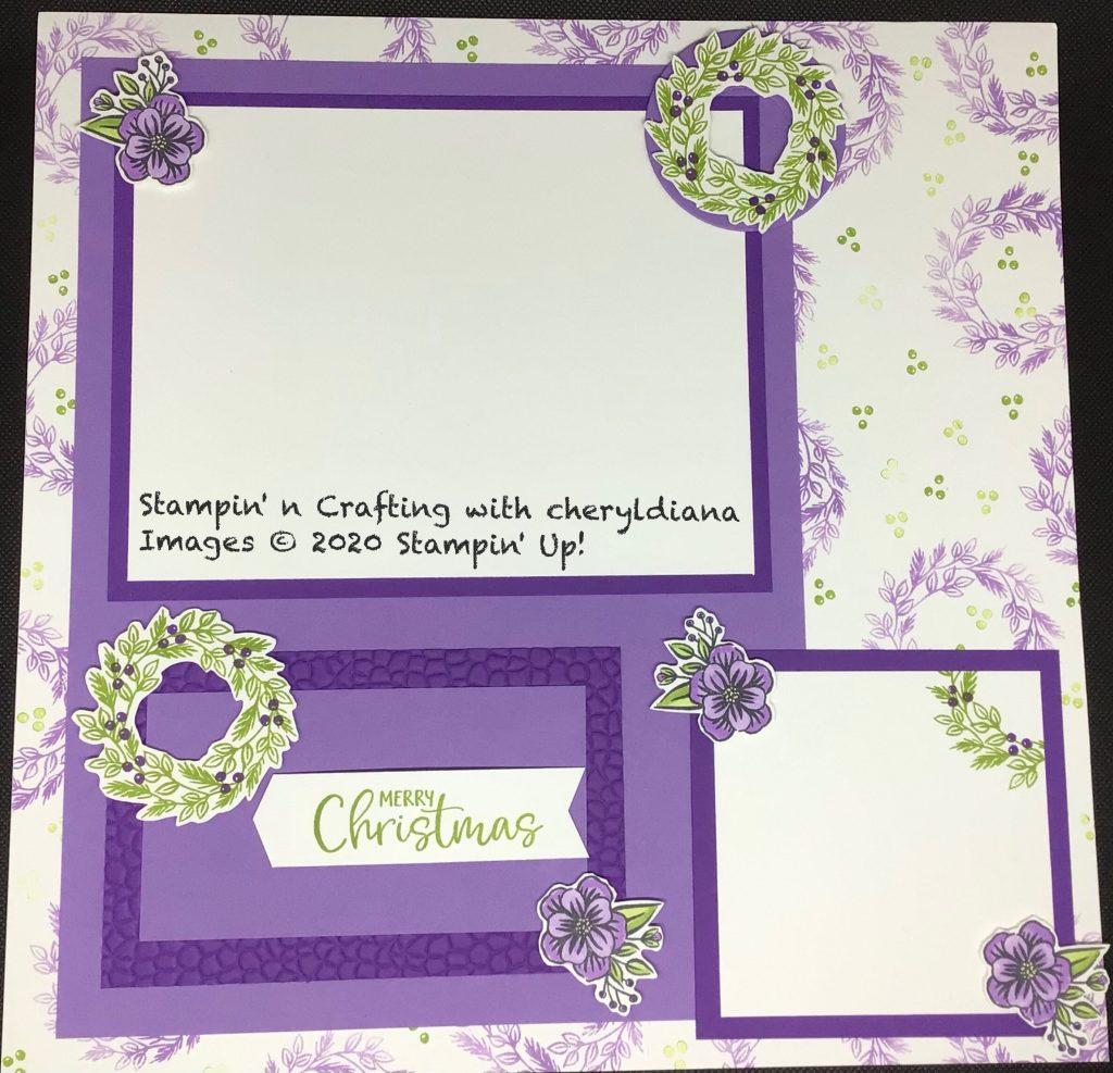 Scrapbook layout using Paper Pumpkin Kit Joy to the World