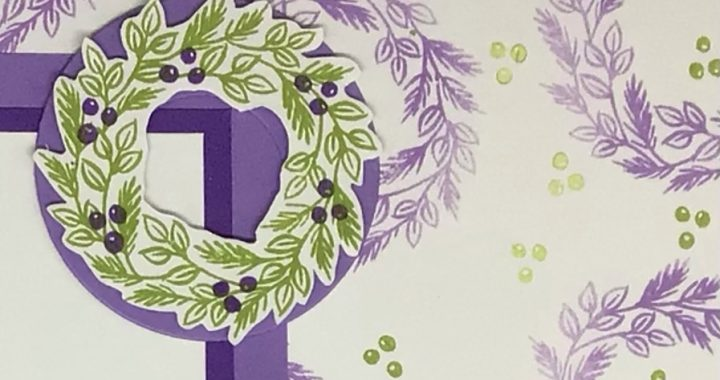 Stamped background paper