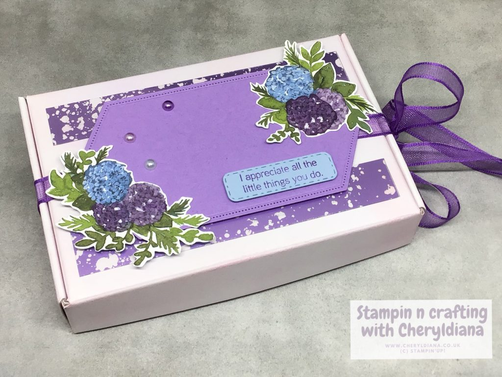 Mini Paper Pumpkin Box using Hydrangea Hill Suite Collection