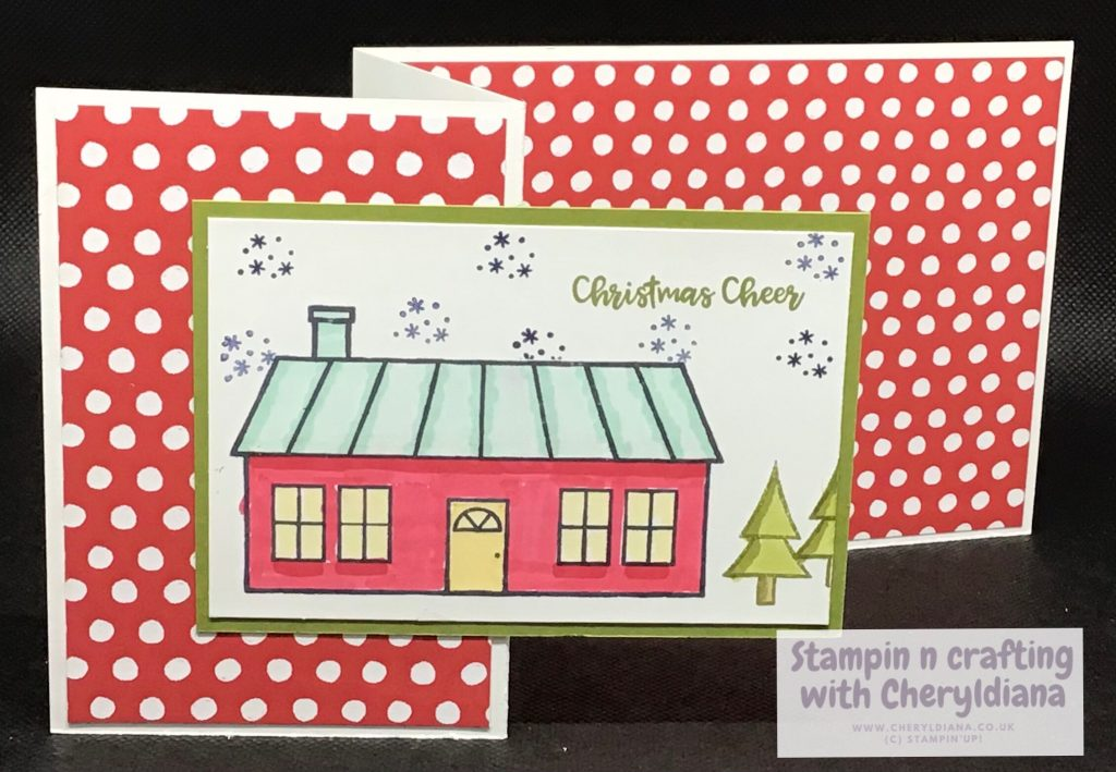 Z fold Christmas cards