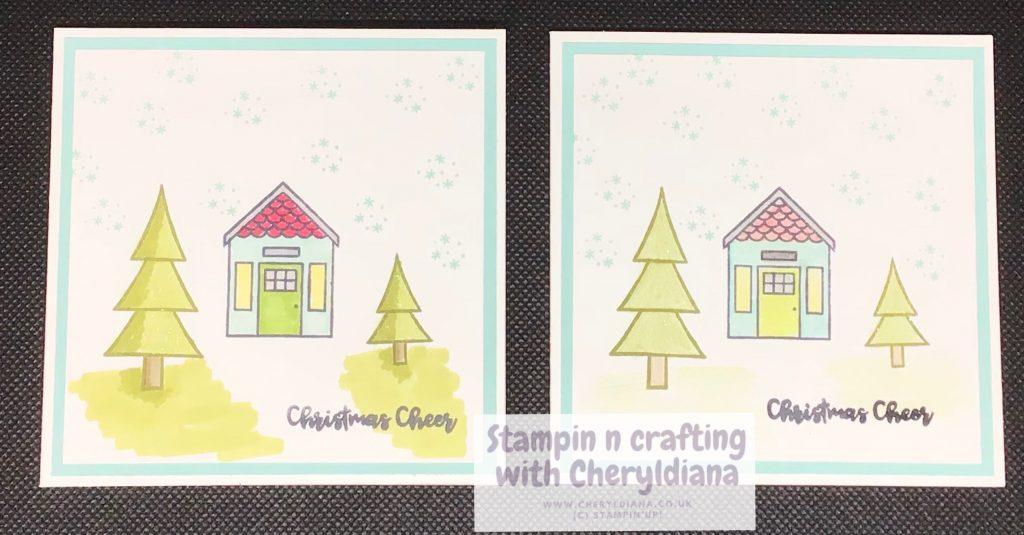 Simple 10cm x 10cm Christmas cards