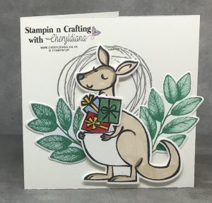 By using the presents image from the Kangaroo and Company bundle you have a lovely birthday card.