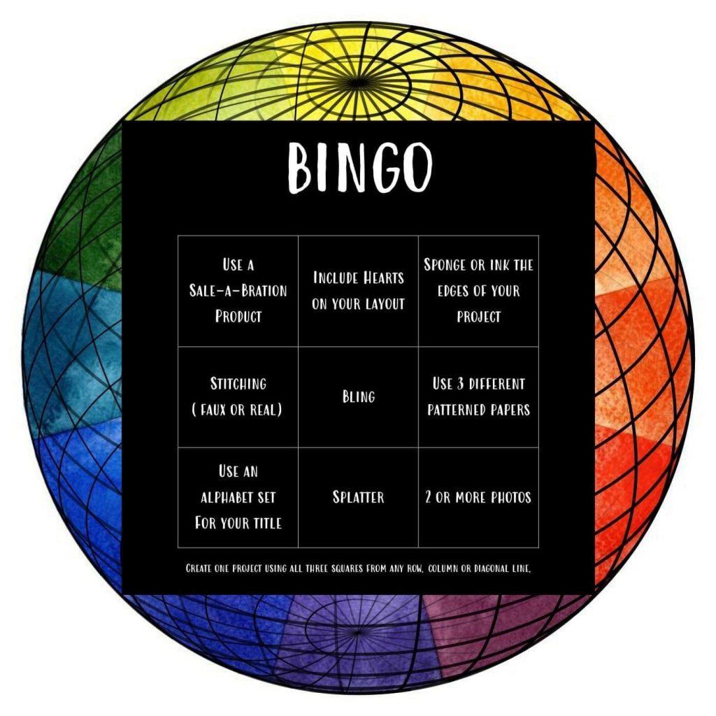 Scrapbook layout Bingo choices